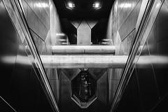 Underground (Zesk MF) Tags: bw black white cologne zesk mono underground ubahn building architecture fuji x100f highiso