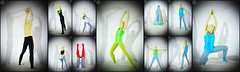 Colored Tights (llbdevu) Tags: tights tight leotard zentai catsuit unitard costume boy men footed feet green blue black white red gymnast shiny spandex lycra covered layering encasement posing light