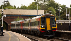 Yawn......... Class 158 at Alfreton on 05-09-2018 (kevaruka) Tags: alfreton alfretonstation derbyshire britishrail networkrail trains train transport clouds cloudy cloudyday cloud thephotographyblog flickr frontpage telephoto telephototrains summer september 2018 canon canoneos5dmk3 canon5dmk3 canon70200f28ismk2 5d3 5diii 5d 5dmk3 fullframe f28 england class66 freightliner shed greatbritain uk locomotive composition yellow green trees