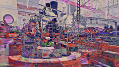 BaikalReise 75r (wos---art) Tags: bildschichtung russland transsibirische eisenbahn historisch ausgemustert stillgelegt schrottplatz ausgestellt präsentiert maschinengeschichte