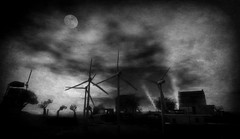 Save Me From Tomorrow (Loegan Magic) Tags: secondlife iamslamsterdam sky moon windturbines smog environment worldparty shipoffools lyrics landscape