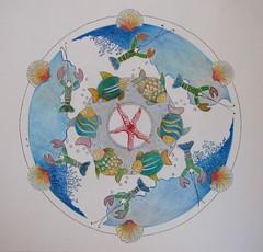 Interlude N°5 (geneterre69) Tags: cercle mandala océan poisson