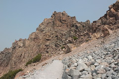 A wall of rock at a switchback (rozoneill) Tags: lassen volcanic national park peak hiking california volcano