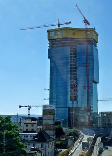 Im Bau * Under construction * En construcción * Prime Tower (früherer Name Maag Tower) *   .    P1160094