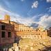 Ruins of Trajan's Market, Rome, Italy.