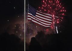 USA! (Jenny Onsager) Tags: patriotism flag unitedstates fireworks red white blue sports americanflag cloudysky starsandstripes