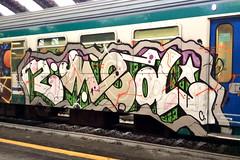 2MED (StrangeSpotter) Tags: graffiti art streetart graffitiart painted paintedtrains train traingraffiti graffititrain 2mad 2med italy