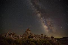 Tufa & Galaxy (Shi Yu) Tags: california monolake milkyway yushiphotography shiyuphotography nightphotography night places sunstonephotography ngc