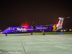 flybe G-JEDR HAJ at Night (U. Heinze) Tags: aircraft airlines airways airplane planespotting plane flugzeug haj hannoverlangenhagenairporthaj eddv nikon olympus