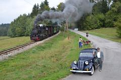 Veteráni u Senotína (fira53) Tags: veteran lokomotiva vlak auto motocykl železnice