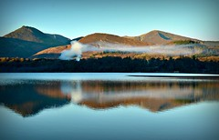 Smoke On The Water (plot19) Tags: smoke water derwent love light landscape lake lakedistrict lakes nikon north northern northwest plot19 photography england english britain british uk mountains hills blue