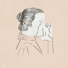 Head of a woman with a handkerchief against her nose (1894) by Julie de Graag (1877-1924). Original from the Rijks Museum. Digitally enhanced by rawpixel (Free Public Domain Illustrations by rawpixel) Tags: against antique anxious artwork character cleaning cold covered cry crying depressed drawing face flu hand handdrawn handkerchief head heartbroken holding illness illustrated illustration juliedegraag lonely nose old sad sadness sick sickness side sketch upset vintage wiping woman