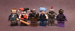 Assault on Arkham (TheMooseFigs) Tags: lego king shark black spider harley quinn deadshot boomerang captain killer frost
