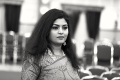 Portrait (Rajavelu1) Tags: portraitphotography blackandwhitephotography lady model india handheld highiso availablelight art creative bokeh depthoffield handheldnightphotography