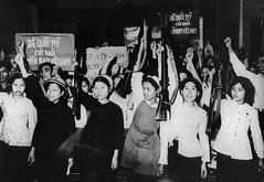 Transport Workers demonstration in Hanoi (manhhai) Tags: 1960s drv democraticrepublicofvietnam vietnam vietnamwar vietnamese protest vnm
