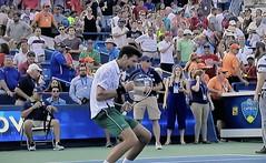 Novak Djokovic beats Roger Federer in Cincinnati Masters (jeslu) Tags: novak djokovic beats roger federer cincinnati masters panasonic dczs200 very good pocket camera