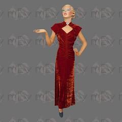 1930s Russet Velvet Gown (Rickenbackerglory.) Tags: vintage siegel mannequin 1930s russel velvet gown