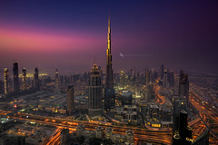 The Rising (hisalman) Tags: sunrise city cityscape burjkhalifa dubai uae travel dusk dawn towers skyline hisalman