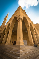 Corner (Nick Sloter) Tags: purple beirut blue mosque architecture archdaily architecturephotography islamicarchitecture religiousarchitecture travel buildings travelphotography nikon nikond750 sigma1020mm sigma35mm places sky lebanon