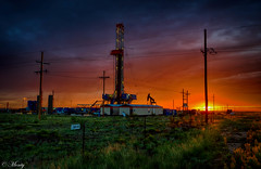Working Rig, Hobbs, New Mexcio - 68 Class Reunion (concho cowboy) Tags: hobbs newmexico unitedstates us sunrise oil rig