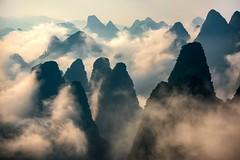 Guilin, China (Rod Waddington) Tags: china chinese guilin karst mountains clouds landscape light sunrise nature happyplanet asiafavorites