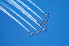 _Z2A9701 (Fabiosantos25) Tags: esquadrilhadafumaça esquadrilha 5dmkiv ef100400isii ef100400mmisii ef100400ii 7desetembro setedesetembro independencia smokesquadron supertucano avião plane sky blue azul brasil brazil