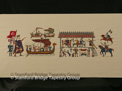 Panel 12 (Stamford Bridge Tapestry Project) Tags: tapestry stamfordbridge battleofstamfordbridge 1066 embroidery