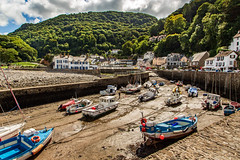 Lynton & Lynmouth (Ian Emerson (Thanks for all the comments and faves) Tags: scenic postcard views devon exmoor cliffs boats harbour holiday england landscape seascape sea water trees fishing clouds canon 6d resort holidaymakers quaint quintessential uk british