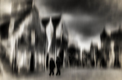 Livin in a Dream (beelzebub2011) Tags: europe uk scotland edinburgh hollyrood bw monochrome abstract movement