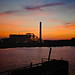 Incineration Plant and Sunset