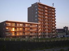 The sunrise apartment (しまむー) Tags: panasonic lumix dmcgx1 gx1 g 20mm f17 asph trip train yuri highland railway 由利高原鉄道