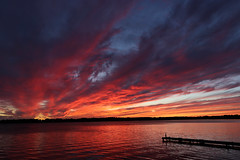 end of vacation sunset (scienceduck) Tags: 2018 september scienceduck ontario canada scugog lakescugog lake water sunset clouds dock 15fav