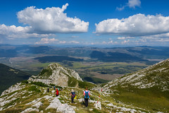 Dinara mountain, Bosnia and Herzegovina (HimzoIsić) Tags: landscape mountain hiking poeple peak mountainside mountaineering sky blue clouds rock outdoor nature