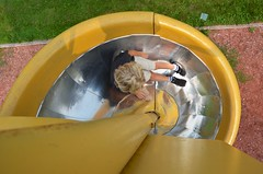 Everett On The Spiral Slide (Joe Shlabotnik) Tags: 2018 aroostook spiral august2018 everett justeverett slide maine playground vanburen afsdxvrzoomnikkor18105mmf3556ged