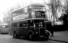 London transport RTL364 on route 108A Bromley by Bow 1954. (Ledlon89) Tags: bus buses london transport lt lte londontransport londonbus londonbuses vintagebuses leylandtitan leyland parkroyal