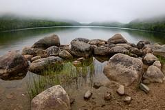 Granite boulders on Jordan Pond, Acadia NP