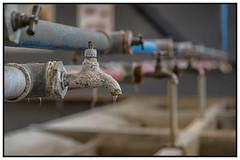 Water tap (Marcel Kramer K3ll) Tags: watertap chalk maintenance water thelaundry leak pentax marcelkramer france vernetlesbains pentaxflickraward