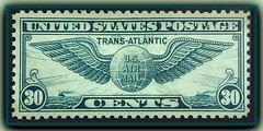 "30 Cent ""Trans Atlantic"" 1939 (inferno55) Tags: 30 stamp globe winged ""airmail"" ""inexplore"" stamps 1939 ""transatlantic"""