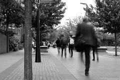 P52 Week 36 | Passing of Time (Steph*Powell) Tags: monochrome bnw streetphotography walking sheffield 35mm nikond5100