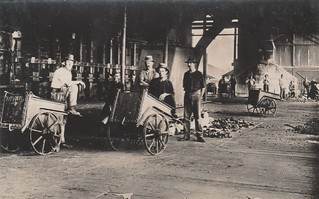 Inside the smelting works at Chillagoe, Qld - circa 1920