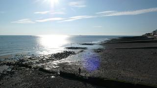 Un Dimanche au Havre - Le parc de Rouelles - Sainte Adresse - Le soleil couchant sur la plage