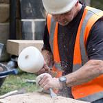 Steve Coupland works the stone at Holy Trinity Goodramgate, York