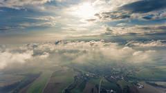 Foggy morning (Cheesecakecookie01) Tags: lengnauag nebel landschaft morgen town djiphantom4 sun drone baden foggy zurzibiet morning drohne sky fog dorf clouds landscape field