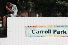 IMG_1902 (Philadelphia Parks & Recreation) Tags: carroll park dedication ribbon cutting playground play kids summer summertime laugh spray sprayground sprinkler jungle gym running laughing run playing new upgrades