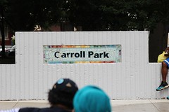 IMG_1873 (Philadelphia Parks & Recreation) Tags: carroll park dedication ribbon cutting playground play kids summer summertime laugh spray sprayground sprinkler jungle gym running laughing run playing new upgrades