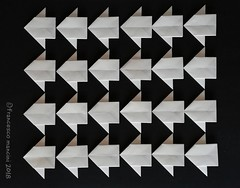 FrEscher. Illusion (mancinerie) Tags: origami paperfolding papiroflexia papierfalten francescomancini mancinerie escher tessellation arrow