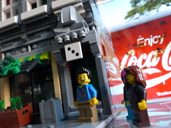 Trois French Wine Bar (craigslegostuff) Tags: lego modular street city town mini fig minifig minifigs figure minifigure figures coke coca cola sign advert advertising wine bar moc mocs building buildings road shop business 16 32 16x32 32x16 creator series modularbuilding figs minifgures collectible collectibleminifigures cmf interior exterior floors mod mods collectibleminifigs collectibleminifig modified roads design designer expert afol
