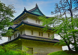 Fujimi-yagura Tower in East Gardens of the Imperial Palace - Tokyo Japan