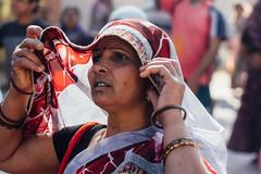 Pilgrim Woman Under Sari, Vrindavan India (AdamCohn) Tags: adamcohn hindu india vrindavan holi pilgrim pilgrimage pilgrims होली