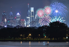 Philly's Labor Day Weekend Fireworks (mhoffman1) Tags: collingswood cooperriver cooperriverpark labordayweekend phila philadelphia philly celebration city cityscape fireworks kayak cherryhill newjersey unitedstates us